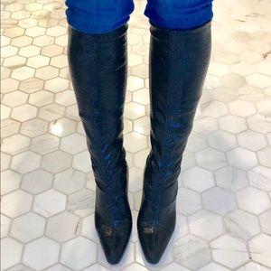 Bruno Magli sz 6 knee high stretch boots